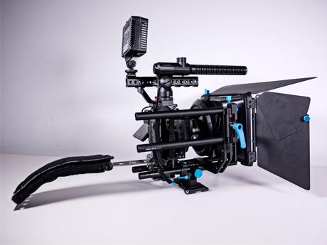Panasonic-GH-4 Kamera mit kompletten Rig System